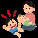 【0歳~3歳】上の子が赤ちゃん返り。抱っこ争奪戦で2人共泣いて手におえない!そんな時はこうします♪