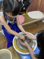 【3歳】長浜市の陶芸工房ほっこくがま☆3歳から体験できるロクロ♪1歳児を連れて参加してみた♪