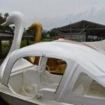 迫力ある大水車に鯉のエサやり♪レンタルボートも楽しい「能登川水車とカヌーランド」を紹介☆YouTube【ぴーまむチャンネル】in東近江市